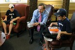 Young Ambassadors of Middleburg Heights visiting Mayor Gary W. Starr are, from left, Alec Cario, Starr and Sebastian Cario. Photo courtesy of Charles Bichara.