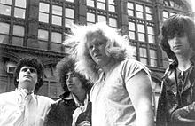 Author Brian McMahon (far left) with the Electric Eels circa 1973.