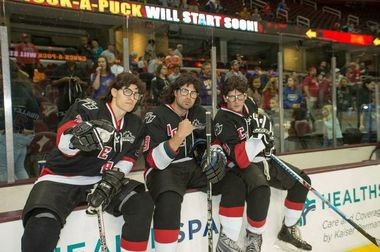 "The Mullet Brothers, identified by the Lake Erie Monsters only as Nick, Max and Jason, are inspired by the Hanson Brothers from the movie ""Slap Shot.'' Christian Hanson, in camp with Monsters, is the son of David Hanson, who portrayed Jack Hanson in the movie and two sequels."