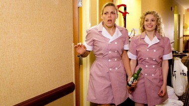 """Busy Philipps and Gillian Jacobs play sisters who are freaked out by some of their hotel duties in """"Made in Cleveland."""""""