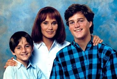 """Charlie Korsmo, with Jessica Lange and Chris O'Donnell, in """"Men Don't Leave."""" (Warner Bros.)"""
