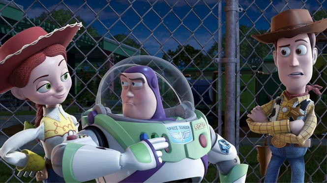 """Jessie, Buzz and Woody battled displacement in """"Toy Story 3."""""""