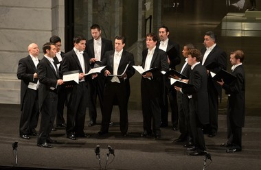 Chanticleer performed Wednesday night at the Cleveland Museum of Art. It was the first formal concert in the museum's new atrium.