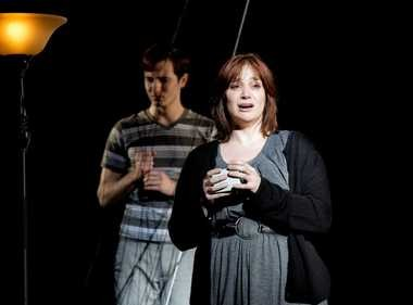 """Amiee Collier, front, as Diana, and Ben Donahoo as Gabe in the Lakeland Civic Theatre production of """"Next to Normal."""""""