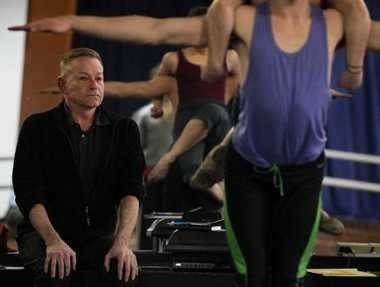 """Richard Dickinson watches a Verb Ballets rehearsal. The Cleveland contemporary dance company performs his new work, """"Four Last Songs,"""" this week at the Breen Center."""