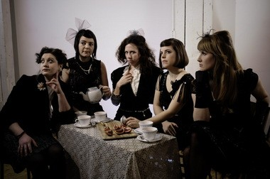 Composer Missy Mazzoli, center, and the other members of Victoire to appear Feb. 22 at the Cleveland Museum of Art.