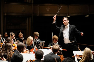 James Feddeck concluded his tenure atop the Cleveland Orchestra Youth Orchestra Sunday with a concert at Severance Hall. In this picture, taken in 2009, he was at the beginning of his term.