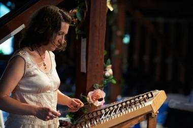 Tina Bergmann plays a mean hammered dulcimer.