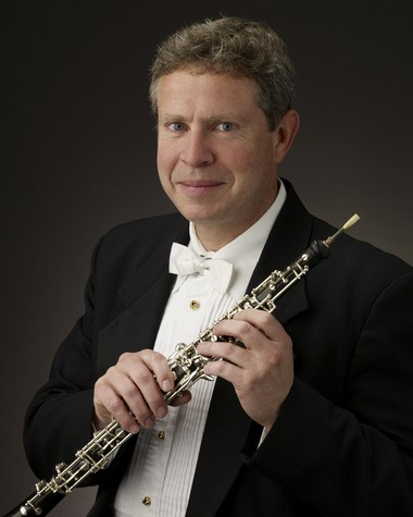 """Cleveland Orchestra assistant principal oboist Jeffrey Rathbun joined several of his colleagues on the Rocky River Chamber Music Society Monday in a concert featuring his own """"Rocky River Music"""" and works by Mozart."""