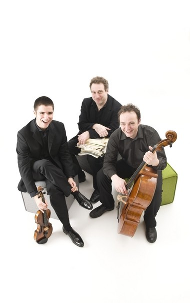 The Vienna Piano Trio (from left: violinist Bogdan Bozovic, pianist Stefan Mendl, and cellist Matthias Gredler) treated a capacity crowd at the Rocky River Chamber Music Society Monday to performances of works by Beethoven, Schoenberg and Brahms.