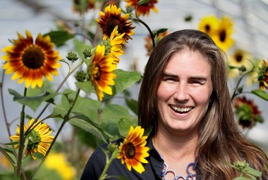 Morgan Taggart helps crops and farms to grow.