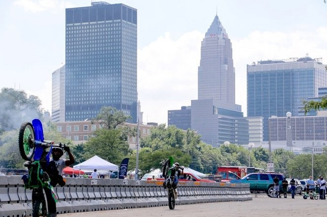 """Christian Hayward organized """"BikeLife - The Culture Festival,"""" a biker event held on Aug. 21, 2016, at Cleveland Municipal Lot. Mayor Frank Jackson attended the event."""