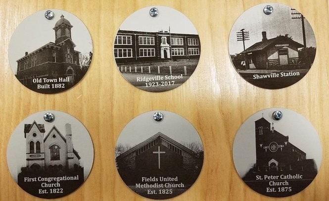 Historic medallions in North Ridgeville are being sold in advance to usher in the celebration of First Church Congregational's 200th anniversary in 2022.