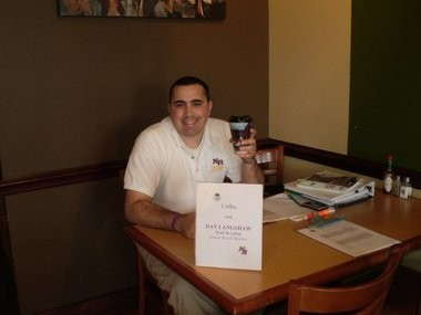 North Royalton Board of Education member Dan Langshaw held his 37th consecutive monthly constituent coffee event Jan. 5.
