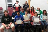 Olmsted Falls Middle School finalists in the Geography Bee contest.