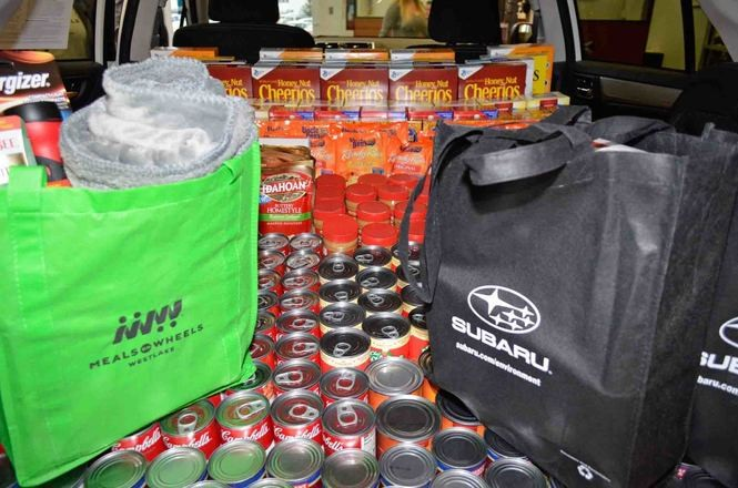 Subaru stuffs the trunk with various needed items for Meals and Wheels clients. A community-wide Stuff the Trunk is set for Nov. 28 at the North Olmsted Community Park.