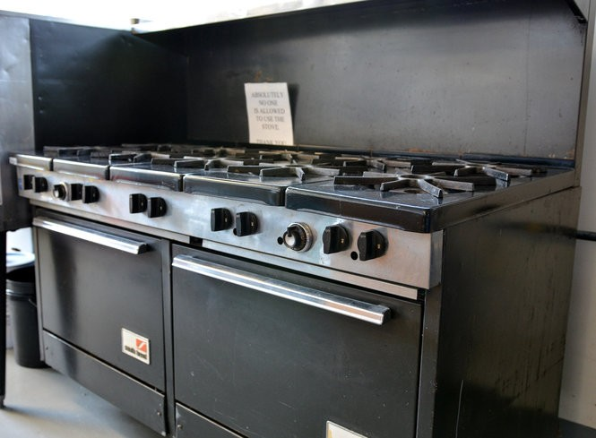 This 10-burner stove has not operated for years and will be repaired to help cook meals for clients in Olmsted Township, Olmsted Falls and North Olmsted.
