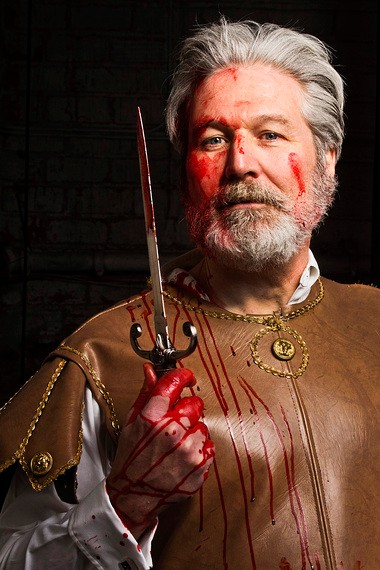 """Bloody, Bloody William Shakespeare: Dana Hart is """"Titus"""" in the world premiere CPT musical."""