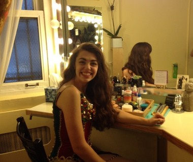 """Kaley Ann Voorhees in her dressing room at New York's Majestic Theatre. The 20-year-old from Aurora, Ohio is poised to make her Broadway debut in """"The Phantom of the Opera."""""""