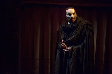 Norm Lewis, as the Phantom. Lewis is only the 14th actor to star in the title role in the Broadway production.