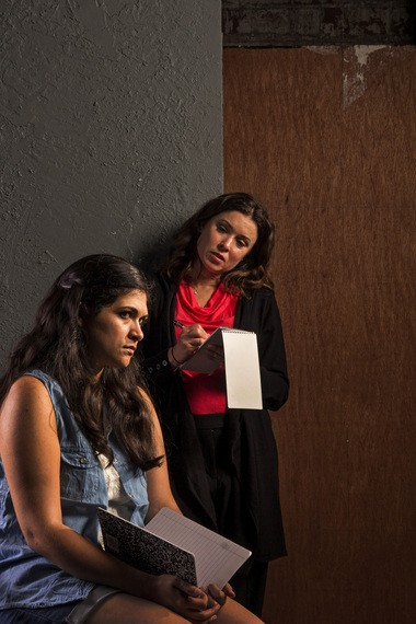 """From left: Tania Benites (as Johanna Orozco) and Courtney Brown (as Rachel Dissell) in """"Johanna: Facing Forward,"""" written and directed by Tlaloc Rivas."""