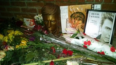 "A makeshift shrine grew outside the New York Theatre Workshop in the days following David Bowie's death. ""Lazarus,"" the musical he wrote with ""Once"" playwright Enda Walsh, opened at the off-Broadway theater in December."