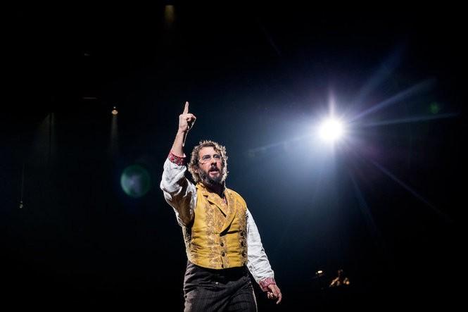 Josh Groban, in his Broadway debut as Pierre in 'Natasha, Pierre & The Great Comet of 1812.'