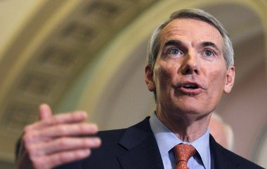 U.S. Sen. Rob Portman said today that anti-drug programs and programs to cut prison recidivism could effectively cut poverty as well.