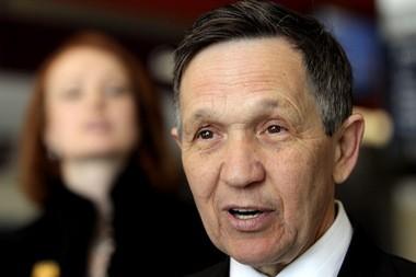 Dennis Kucinich started his stint as a Fox News commentator Thursday night.