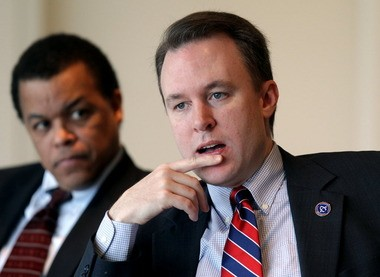 Cuyahoga County Executive Ed FitzGerald meets with The Plain Dealer editorial board in this 2012 file photo.