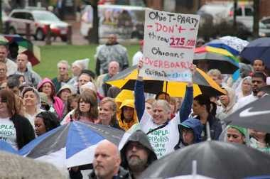 Ohioans from all corners of the state and a wide variety of walks of life rallied Thursday outside the Statehouse in Columbus, urging lawmakers to approve an expansion of Medicaid coverage in the state to include those making up to 138 percent of the poverty level.
