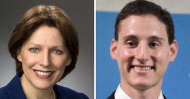 State Rep. Connie Pillich, a Democrat from Montgomery, will declare her candidacy Monday for Ohio treasurer. If she wins her party's nomination next year she will face Republican incumbent Josh Mandel of Beachwood (right) in the general election.