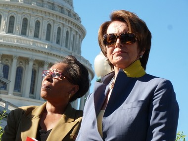 Warrensville Heights Democratic Rep. Marcia Fudge joined House Democratic Leader Nancy Pelosi at a press conference to denounce proposed food stamp cuts.