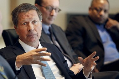 Ohio Gov. John Kasich discussed a wide range of issues when he met Thursday with editors and reporters from Northeast Ohio Media Group and The Plain Dealer.