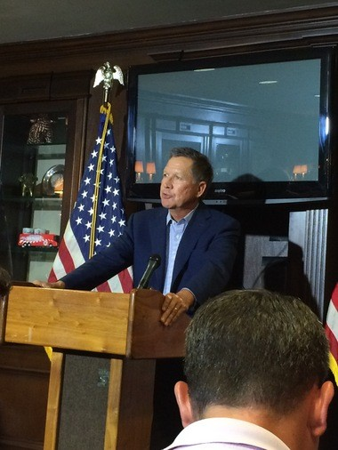 "Ohio Gov. John Kasich addressed reporters today at a news conference while in Washington, D.C. Asked about characterizations of his personality, he said, ""we're pretty direct"" in his hometown of McKees Rocks, Pennsylvania."