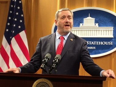Ohio State Auditor Dave Yost, a Republican, announced Monday that he won't vote for Donald Trump even if he wins the GOP nomination.