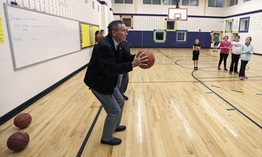 Like this shot he attempted during a campaign stop in Salem, N.H., last December, Ohio Governor John Kasich remains a long shot to become President.