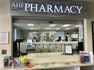 The AIDS Healthcare Foundation raises revenue via its string of pharmacies, like this on located inside the AIDS Task Force of Greater Cleveland. The group gets a discounted rate on drugs through federal programs and then bills insurers at a higher rate, investing whatever is left over into the expansion of the nonprofit.