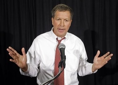 Ohio Republican Gov. John Kasich during his election campaign in 2010. Since taking office, Kasich has taken on the task of revamping Ohio's Medicaid program. Now, he must decide whether to expand the program as called for under the federal Affordable Care Act.