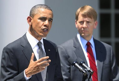 President Barack Obama in 2011 announced the nomination of former Ohio Attorney General Richard Cordray, right, to serve as the first director of the Consumer Financial Protection Bureau.