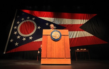 Ohio Gov. John Kasich gives Tuesday's State of the State address in Lima.