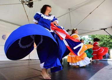 Dancers from Julia de Burgos Cultural Arts Center perform at an International Folk Festival in 2011.