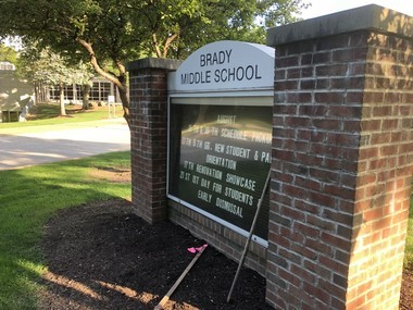 Two of four renovation phases have been completed at Brady Middle School.