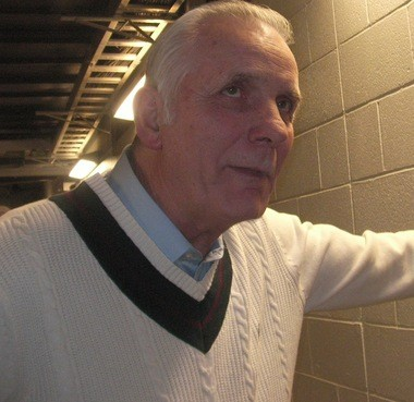 Former Ohio State All-American Jerry Lucas, 72, while talking to reporters Wednesday.
