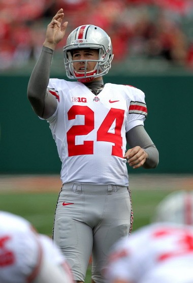 Kicker Drew Basil, lining up a field goal Saturday, will also be the punter for the Buckeyes, and Urban Meyer is worried about that.