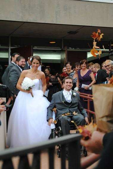 Tyson Gentry and his wife, Megan, on their wedding day on Oct. 19.
