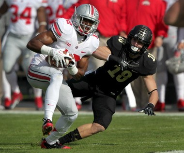 Doran Grant ended Purdue's opening drive quickly, as he returned an interception 33 yards for a score.