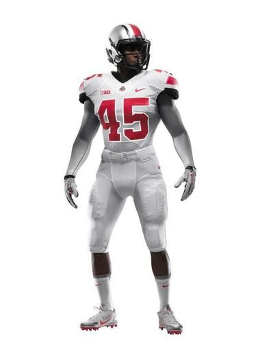 Ohio State will wear all-white alternate uniforms vs. Michigan, a game that's set to kick off at noon in Ann Arbor on Nov. 30.