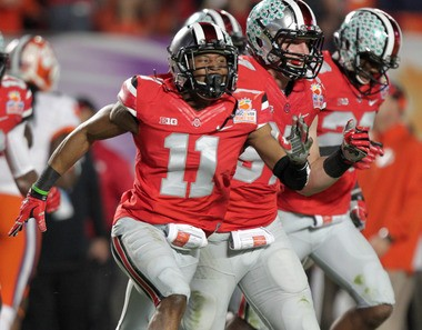 Vonn Bell had an interception in his first career start vs. Clemson in the Orange Bowl last year. He has had a huge impact as a sophomore this year as the Buckeyes chase a national title.
