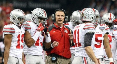 Ohio State coach Urban Meyer's Buckeyes wore alternate uniforms in their College Football Playoff semifinal win over Alabama. They'll wear alternates again vs. Oregon in the title game.